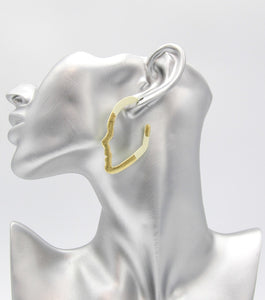 Metal Face Faschion Earrings