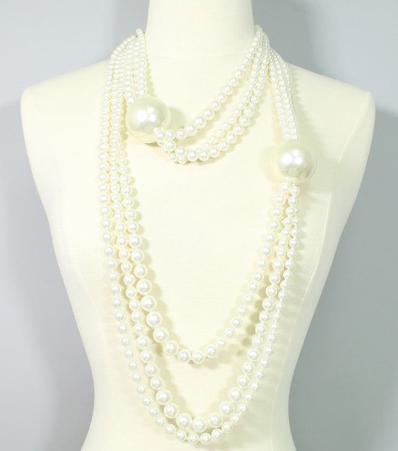 Layered Coco Pearl Necklace Set