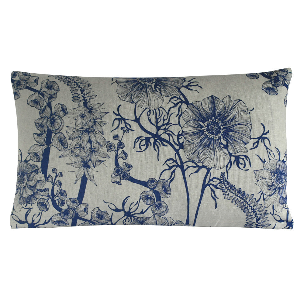 Summer Garden Violet Blue, Cushion Long