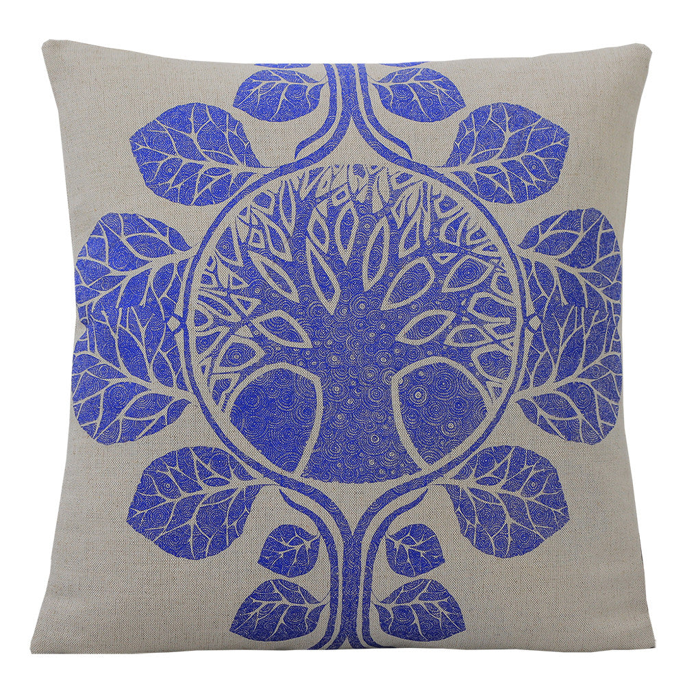 The Tree of Life Blue, Cushion