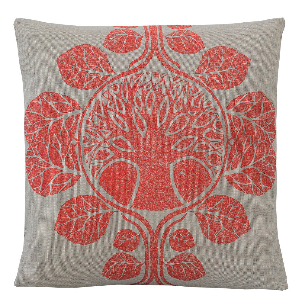 The Tree of Life Red, Cushion