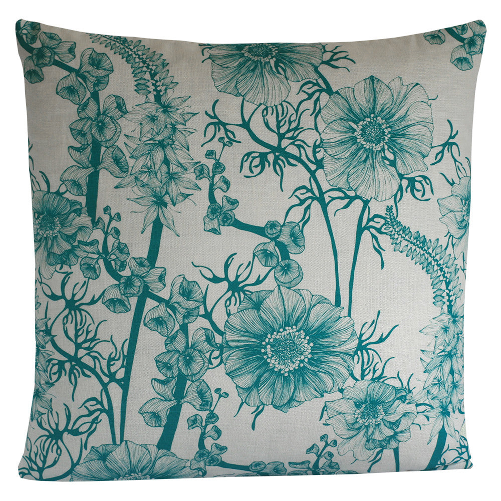 Summer Garden Aqua Green, Cushion Grand