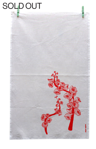 Trumpet Flower, Tea Towel