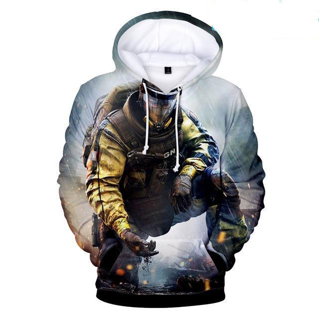Hot Game Rainbow Six Siege 3D Hoodies Men/women Fashion 3D Print Withgeekbuyigdresslliy-dresslliy