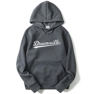 Hoodies Men Hip Hop DREAMVILLE Records Hoodies Swag Letter Fleece Men's Hoodedgeekbuyigdresslliy-dresslliy
