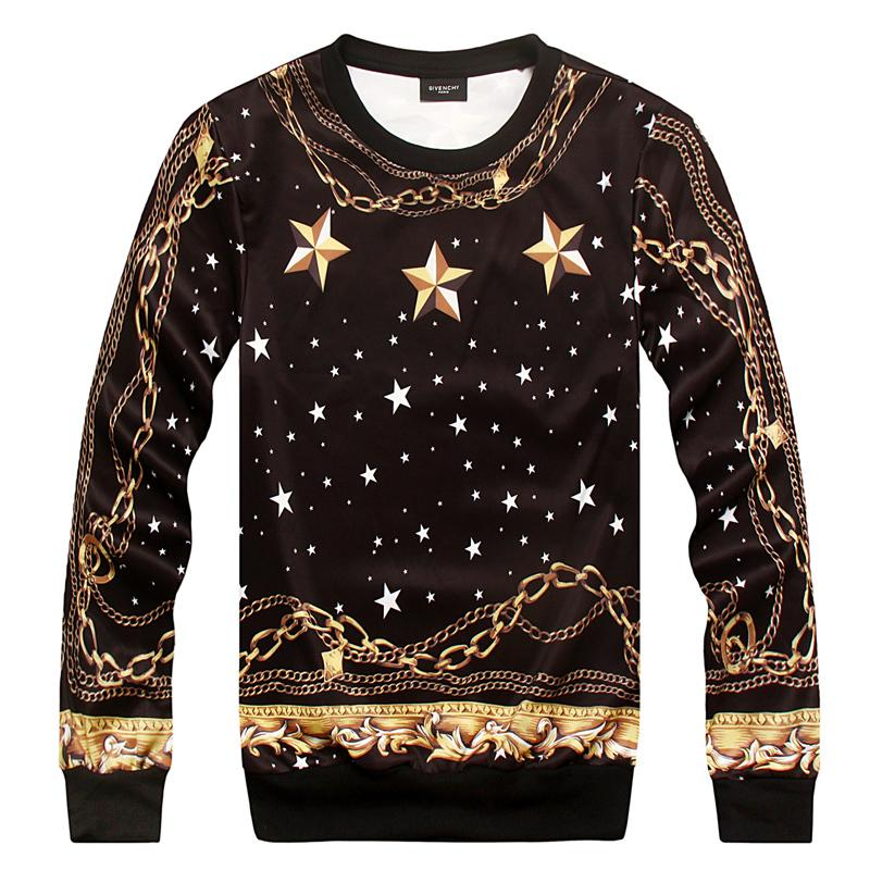2015 Autumn winter Hoodies New Versa Hip hop men women's stars golddresslliy-dresslliy