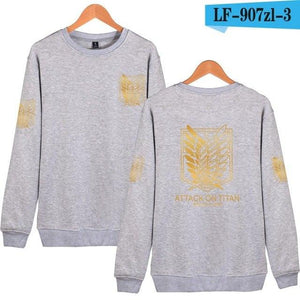 New Arrivals Summer & Autumn Capless Hoodies Attack On Titan Sweatshirt Harajukudresslliy-dresslliy