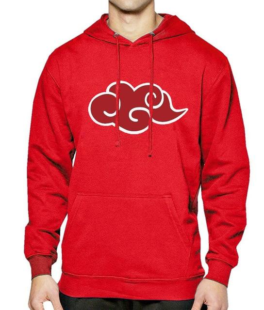 New Hoodie Men Japan Anime Naruto Akatsuki Red Cloud 2017 Hot Saledresslliy-dresslliy