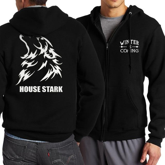 New Hot 2017 Spring Autumn Game of Thrones House Stark Zipper Hoodiesdresslliy-dresslliy