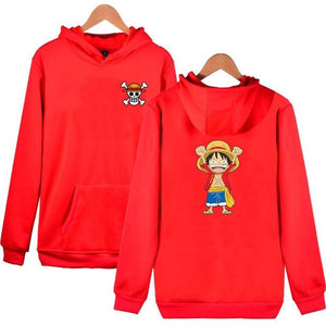 One Piece Monkey D Luffy Fashion Hoodies Anime New Arrival Cotton Sweatshirtdresslliy-dresslliy
