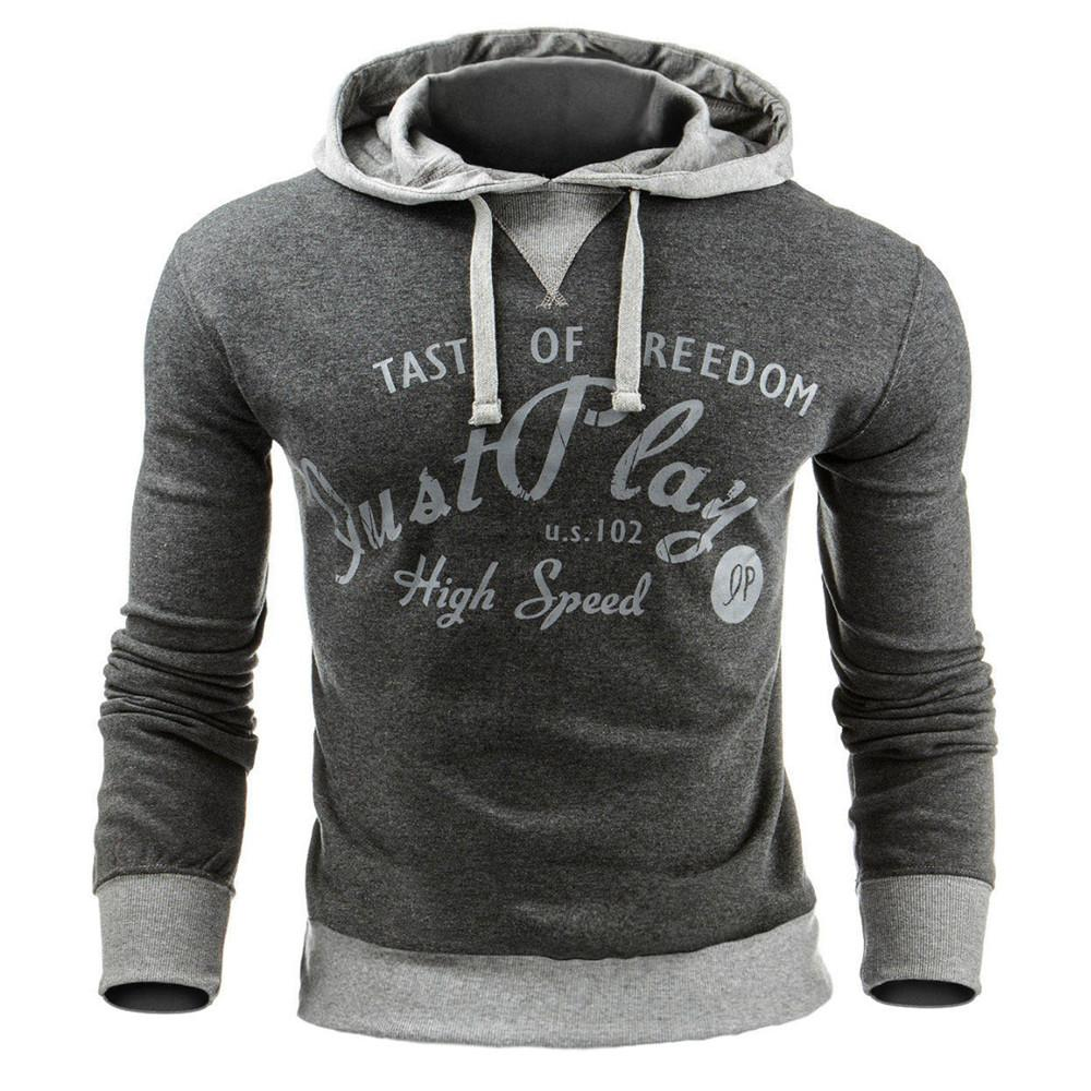 Printing Letter Hoodies Sweatshirts V Neck Sweats Men Clothing Loose Sweats Warmdresslliy-dresslliy