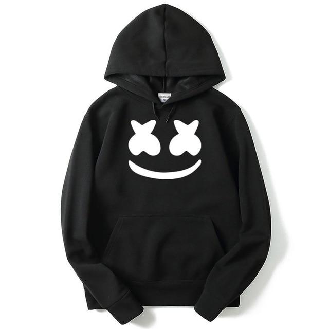 winter New brand marshmello face Hoodies woman Men Casual Slim Fitdresslliy-dresslliy