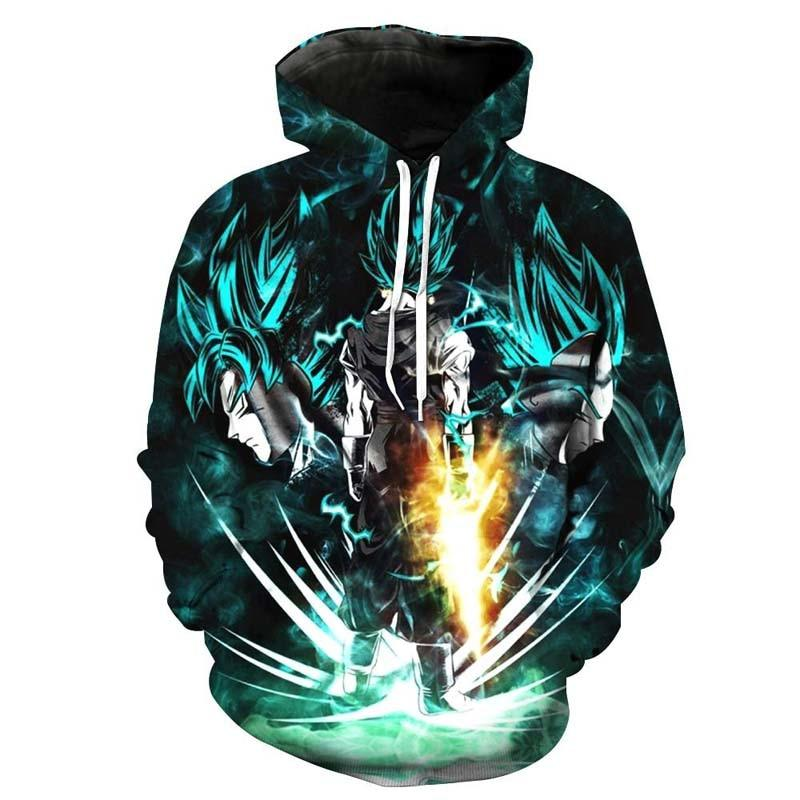 Anime Hoodies Dragon Ball Z Pocket Hooded Sweatshirts Goku 3d Hoodies Mendresslliy-dresslliy