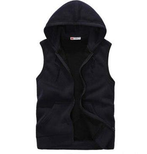 2017 New Fashion Casual Mens Sleeveless Hoodies Slim Fit Hip Pop Vestdresslliy-dresslliy