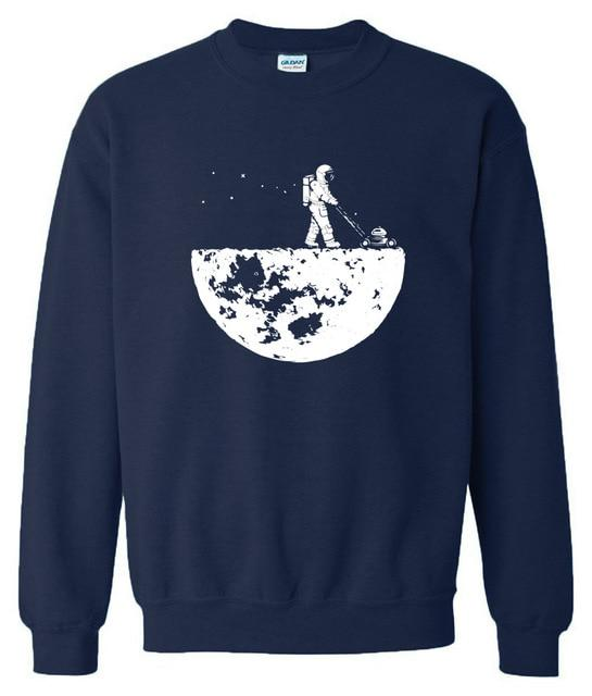Hot sale 2018 men sweatshirts autumn winter fleece print Develop The Moondresslliy-dresslliy