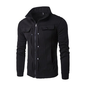 2017 Winter Thick Mens Hoodies Cardigan Pockets Casual Long Sleeve Hoodies Mensdresslliy-dresslliy