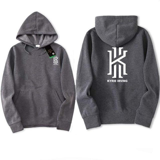 2018 New Fashion Kyrie Irving Print Mens Hoodies Sweatshirts Hip Hop Hoodiedresslliy-dresslliy