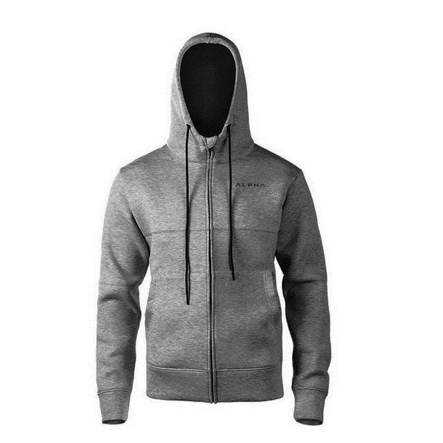 2018 Autumn Newest Fitness Men Gyms Hoodies Sweatshirt Bodybuilding Hoody Zipper Casualdresslliy-dresslliy