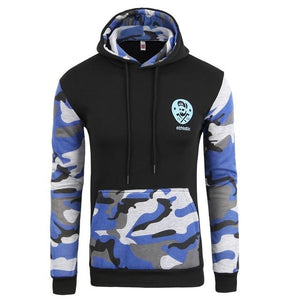 Brand 2018 Hoodie Splicing Camouflage Hoodies Men Fashion Tracksuit Male Sweatshirt Hoodydresslliy-dresslliy