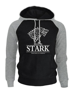 2018 Raglan Hoodies For Men House Stark The Song of Ice anddresslliy-dresslliy