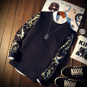 New Fashion Floral Sweatshirt Men Casual Sweatshirt Homens Moletom Masculino Poleron Hombredresslliy-dresslliy