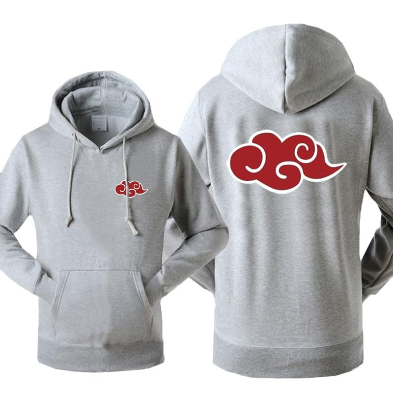 Japan Anime Naruto Akatsuki Red Cloud Print Hoody For Men 2018 Autumndresslliy-dresslliy