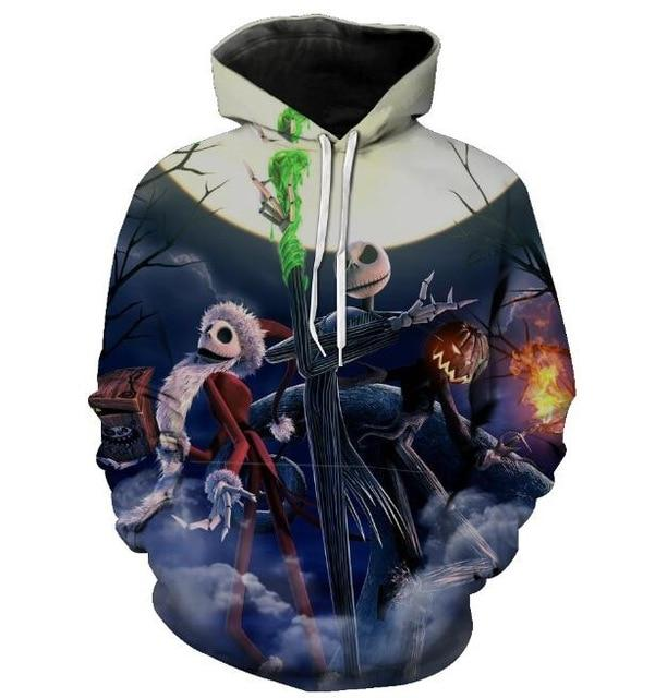Skulls Hoodies Hot Selling Hooded Sweatshirt Streetwear Style Pullover Plus Sizedresslliy-dresslliy