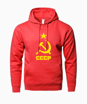 2018 Fashion Fleece Hoodie Men Sweatshirt Print Hot Hoody Men USSR Sovietdresslliy-dresslliy