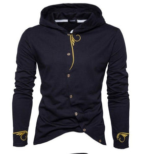 Brand 2018 Hoodie Embroidered Cardigan Hoodies Men Fashion Tracksuit Male Sweatshirt dresslliy-dresslliy