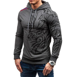 Men's Hoodies 2018 Brand Long Sleeve Sweatshirt 3D Hoodies Dragon Printed Casualdresslliy-dresslliy