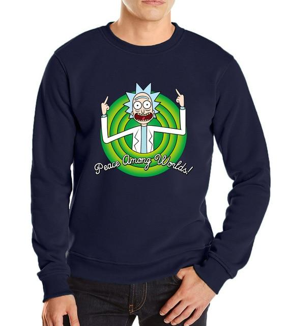 2018 new Rick and Morty sweatshirts streetwear Funny Scientist Rick pullovers mendresslliy-dresslliy