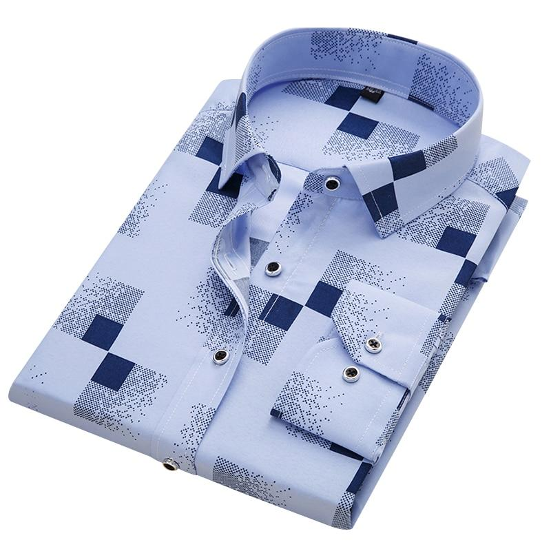2018 New Arrival 100% Polyester Men's Shirt Fashion Men Print Longdresslliy-dresslliy