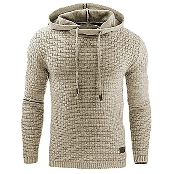 2017 New Casual Hoodie Men'S Hot Sale Plaid Jacquard Hoodies Fashion Militarydresslliy-dresslliy
