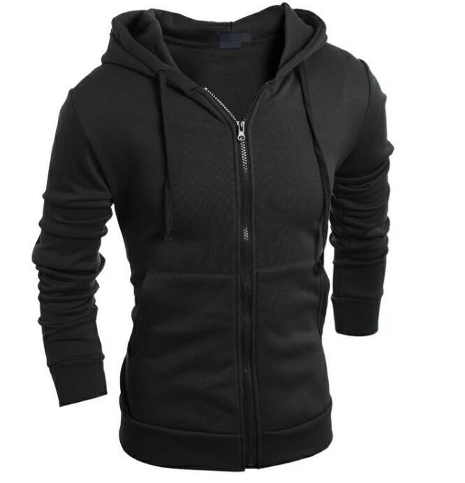 2018 Spring Men Hoodies Zipper Fitness Long Sleeve Leisure Thin Men's Fashiondresslliy-dresslliy