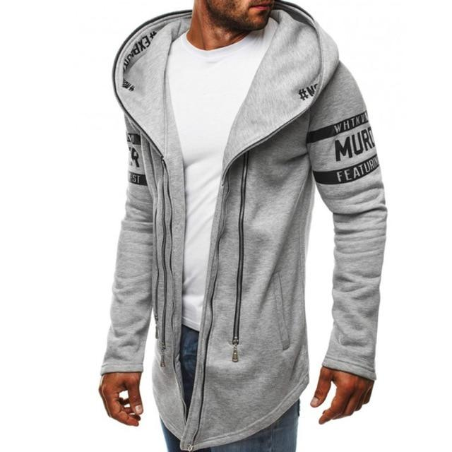 Brand 2018 Hoodie Hip-hop Multi Zipper Letter Print Hoodies Men Fashion Tracksuitdresslliy-dresslliy