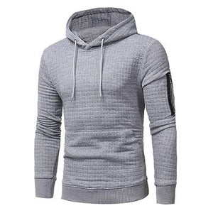 Tops 2017 Autumn Men's plaid dobby color Hoodies casual Pullovers Sweatshirt sleeveddresslliy-dresslliy