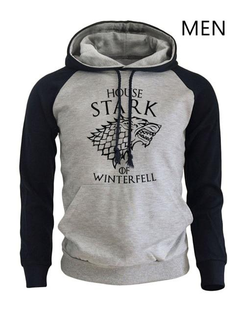 Game Of Thrones Casual Men's Sweatshirt 2018 Spring New Hoodies HOUSE STARKdresslliy-dresslliy