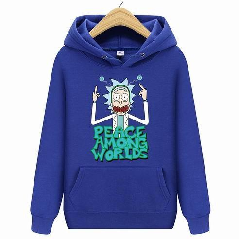 Rick Morty Hoodies Casual Long Sleeve Hoodies Streetwear Hip Hop Male Pulloverdresslliy-dresslliy