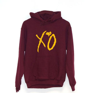 New Gold XO Heart Lover Couple Hoodies Men Unisex Sweatshirt Autumn Hipdresslliy-dresslliy