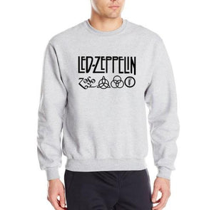 Rock And Roll Led Zeppelin Rock Zoso Fleece Hoodies Heavy Metal Banddresslliy-dresslliy