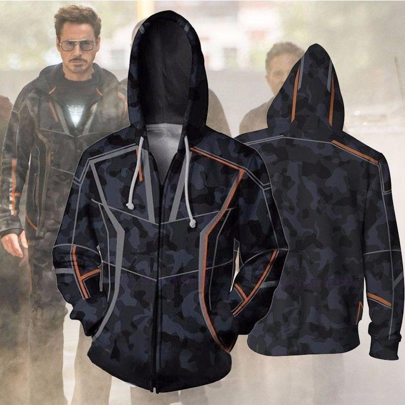 Avengers 3 Infinity War Iron Man Tony Stark Hoodie Sweatshirt For Mendresslliy-dresslliy