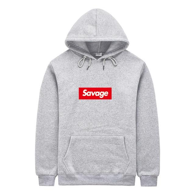 2018 100% Cotton 21 Savage Street Men's Lettering Men's Hoodie Hip-Hop Sweatshirtdresslliy-dresslliy