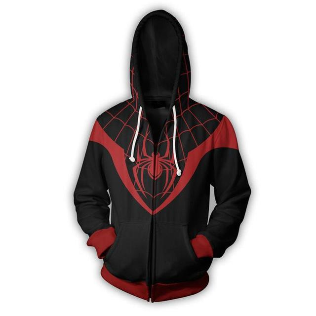 2018 Autumn Winter 3D print Man Hoodies Sweatshirts Superior Spider-man Zip Updresslliy-dresslliy