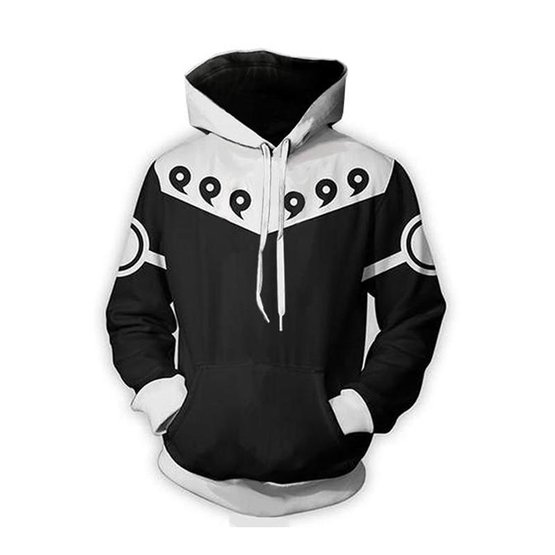 3D Hoodies Men Clothes 2018 Naruto 3D Print Fashion Anime Springdresslliy-dresslliy