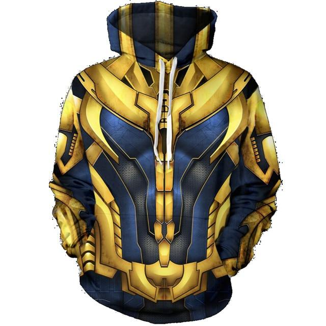 Black Panther Hoodie Sweatshirt Cool Print Fashion Men's Thanos 2018 Avengers Infinitydresslliy-dresslliy