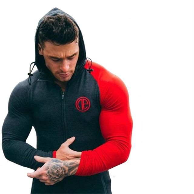 New Brand clothing Bodybuilding gyms shark Hoodies Men Gyms Sweatshirts Long Sleevedresslliy-dresslliy