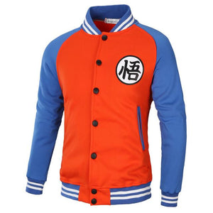 New Japanese Anime Dragon Ball Goku Varsity Hoodies Autumn Casual Sweatshirt Hoodiedresslliy-dresslliy