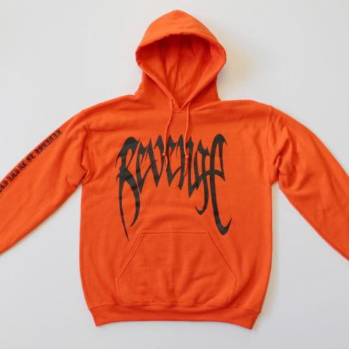 Revenge XXXTentacion Kill MENS Sweat Hoodie Sweatshirt Orange Blackdresslliy-dresslliy
