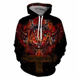Slayer Hoodies For Men 3d print Men's Hooded Sweatshirts 3d Pulloverdresslliy-dresslliy