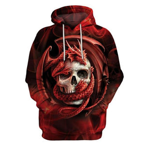 Fashion Dragon And Skull Hooded Shirts Men/Women Printed 3D Hoodies Casual Graphicdresslliy-dresslliy